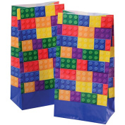 Block Mania Interconnecting Brick Theme Paper Party Loot Goody Bags