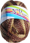 RaanPahMuang Thick Metallics Crochet Knitting Yarn for Scarves Mittens Hats 150gms, Brown