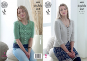 King Cole Ladies Double Knitting Pattern Cardigans with Lace or Trim Detail