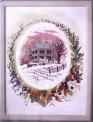Winter Scene Picture - Counted Cross Stitch Kit 15cm x 18cm Oval W/Designer Mat & Frame