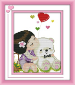 CaptainCrafts New Cross Stitch Kits Patterns Embroidery Kit - The Memory Of Childhood