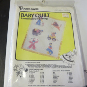 Stamped to Embroider or Paint Baby Quilt AT THE CIRCUS #8643A