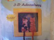 Kitties 3-D Adventures Needlepoint Kit