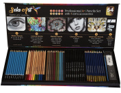 Sela Art-54 Pcs professional Art Pencil Set! Great For Drawing and Colouring. All in one