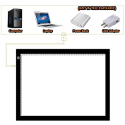 Holidayli A4 Portable LED Light Box 5MM USB Power Light Pad Artcraft Tracing Board for Painting,Drawing,Sketching,Animation