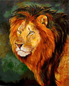 Arts Language Wooden Framed 41cm x 50cm Picture On Wall Acrylic Paint by Numbers Diy Painting T1266 Cougar