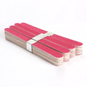 Jocestyle 40pcs Nail Art Manicure Buffer Buffing Sanding Files Wood Crescent Sandpaper Grit Set