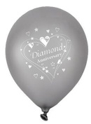 Diamond Anniversary Wishes 30cm Latex Balloons 6pk …