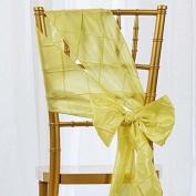 5pc x Yellow Pintuck Chair Sash