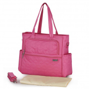 Fashion Large Capacity Baby Nappy Tote Bag Multi Pocket Weekender Bag for Women and Mummy