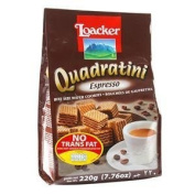 Loacker Quadratini Espresso Wafer 220g.