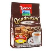 Loacker Quadratini Espresso Wafer 220g.