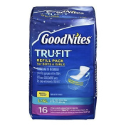 GoodNites TRU-FIT Refill Pack Disposable Absorbent Inserts for Boys & Girls L/LX - 16 CT by GoodNites