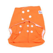 Reusable Baby Washable Cloth Sweet New Alva Nappy Nappy + 1 Insert Adjustable Universal Size Orange colour