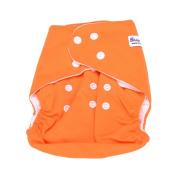 Reusable Baby Washable Cloth Sweet New Alva Nappy Nappy + 1 Insert Adjustable Universal Size Orange colour