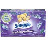Snuggle Exhilarations Fabric Softener Dryer Sheets, White Lavender & Sandalwood Twist, 70 ct