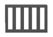 Storkcraft Toddler Guardrail, Grey