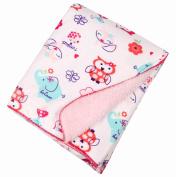 Baby Animals Warm Soft Polar Fleece Blankets Swaddling Bedding