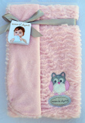 Blankets & Beyond Embroidered Owls on Super Soft Swaddling Fabric