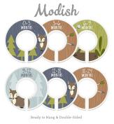 Modish Labels Baby Nursery Closet Dividers, Closet Organisers, Nursery Decor, Baby Boy, Woodland, Fox