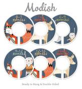 Modish Labels Baby Nursery Closet Dividers, Closet Organisers, Nursery Decor, Baby Boy, Woodland, Tribal, Fox, Bear, Deer, Rabbit