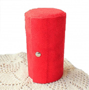 GAMT Retro Three - storey Portable Velvet Cylinder Jewellery Organiser Container Red