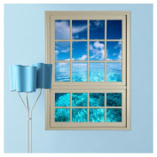 Kemilove 3D Window Sea View Wall Stickers Removable Art Decal Mural Wallpaper