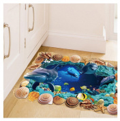 Kemilove 3D Cave world Floor/Wall Sticker Removable Mural Decals Vinyl Living Room Decor