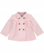 Osh Kosh Girls' Double Breasted Pleated Trench