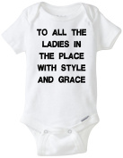 To All The Ladies In The Place Funny Baby Onesie Blakenreag Baby Boy Girl Clothes