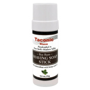 Taconic Shave Barbershop Quality Bay Rum Shaving Soap Stick with Antioxidant-Rich Hemp Seed Oil 70ml/71g