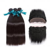 """Queen Love Hair 7a Brazilian Body Wave 3 Bundles with Frontal Ear to Ear Lace Frontal Closure with Bundles Brazilian Human Hair Extensions22"""" 60cm 70cm with 50cm"""