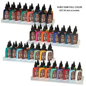 Kuro Sumi Tattoo Ink Full Set, 59 Colours + 5 FREE Whites
