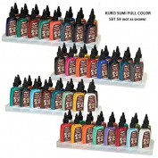 Kuro Sumi Tattoo Ink Full Set, 59 Colours + 5 FREE Whites