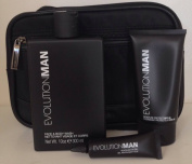 Evolution Man Kit NuNoir Face & Body Wash, Revitalise eye gel, Moisture Protect SPF 20 lotion and Bag