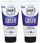 Magic Shave Cream Shave, Regular - 180ml - 2 pk