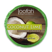 Coconut Lime Loofah Soap Bar - Made With Real Loofah - Handmade In The USA