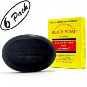 BLACK SOAP African Formula Cocoa Butter Vitamin E Jabon Negro Cacao 100ml - 6 PK by African Formula