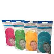 Microfiber Facial Scrubbers-Pink,Green,Yellow,Blue-Total 12 Scrubbers