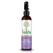 TreeActiv Natural Linen Spray 240ml - Fabric Refresher, Bedding and Clothing - Freshen Up Pillowcases and Sheets - Eliminates Odours - Lavender Scent