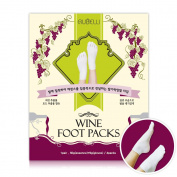 Rubelli Wine Foot Packs 4 Pairs Wine Extract for Foot Moisture care