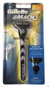 Wennow Gillette Mach3 RAZOR Handle+Refill Cartridge Shaver Use w Turbo M3 power Blades