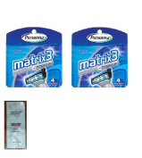 Personna Matrix3 Titanium Triple Blade Refill Cartridge Blades, 4 Ct. (Pack of 2) with FREE Loving Colour trial size conditioner