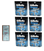 Sensor Excel Refill Blade Cartridges, 10 Ct. (Pack of 6) with FREE Loving Colour trial size conditioner