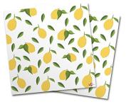 WraptorSkinz Vinyl Craft Cutter Designer 12x12 Sheets Lemon Leaves White - 2 Pack