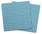 WraptorSkinz Vinyl Craft Cutter Designer 12x12 Sheets Hearts Blue On White - 2 Pack