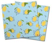 WraptorSkinz Vinyl Craft Cutter Designer 12x12 Sheets Lemon Blue - 2 Pack