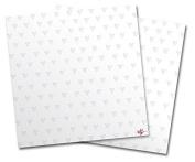 WraptorSkinz Vinyl Craft Cutter Designer 12x12 Sheets Hearts Ice Blue - 2 Pack