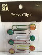 Holiday Epoxy Metal Clips for Scrapbooking