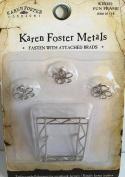 Silver Wire Fun Frame Brads - Set of 4